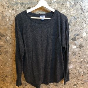 Rayon Blend Charcoal Gray Sweater